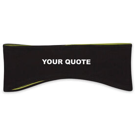 "Reversible Performance Headband ""Your Custom Quote"""