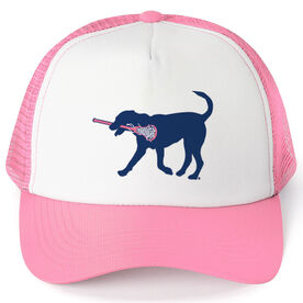 Girls Lacrosse Trucker Hat - LuLa The Lax Dog