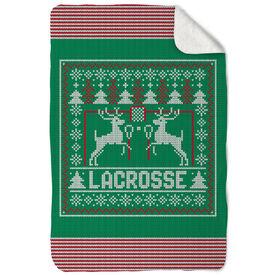 Lacrosse Sherpa Fleece Blanket - Lacrosse Christmas Knit
