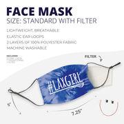 Girls Lacrosse Face Mask - #LAXGIRL Tie-Dye