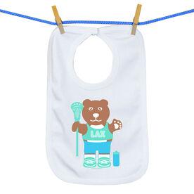 Baby Bib Lacrosse Bear