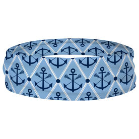 Girls Lacrosse Multifunctional Headwear - Lacrosse Anchor Argyle RokBAND