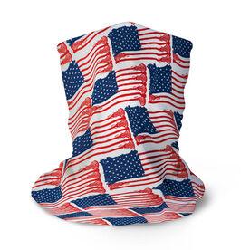 Girls Lacrosse Multifunctional Headwear - American Flag Sticks Pattern RokBAND