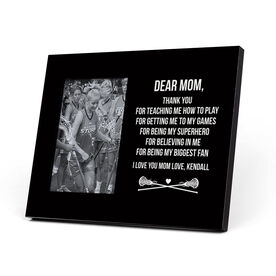 Girls Lacrosse Photo Frame - Dear Mom Thank You