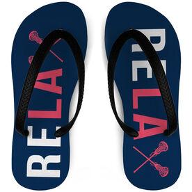 00afa5a00e67de Girls Lacrosse Flip Flops Relax