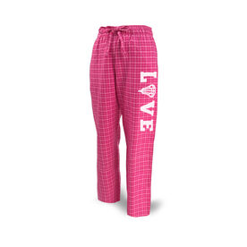 Girls Lacrosse Lounge Pants LOVE with Lacrosse Stick Head