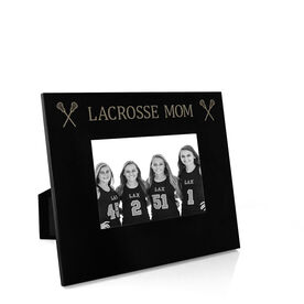 Girls Lacrosse Engraved Picture Frame - Lacrosse Mom