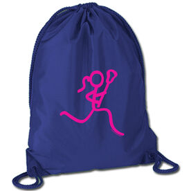 Lacrosse Sport Pack Cinch Sack Neon Lax Girl