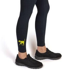 Girls Lacrosse Leggings LuLa the Lax Dog