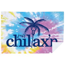 Girls Lacrosse Premium Blanket - Just Chillax'n Tie-Dye