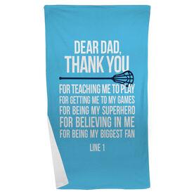 Lacrosse Beach Towel Dear Dad