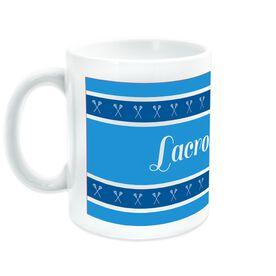Lacrosse Coffee Mug Mom with Stripes