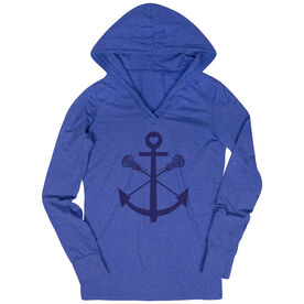 Women's Lacrosse Lightweight Performance Hoodie Lacrosse Sticks Anchor