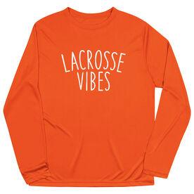 Girls Lacrosse Long Sleeve Performance Tee - Lacrosse Vibes