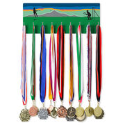 Girls Lacrosse Hooked on Medals Hanger - Field Play