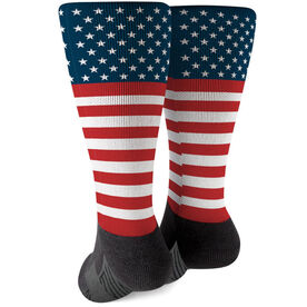 Printed Mid-Calf Socks - USA Stars and Stripes