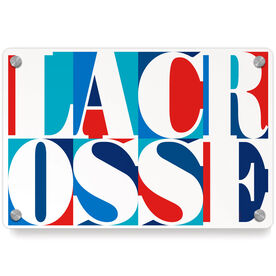 Lacrosse Metal Wall Art Panel - Lacrosse Mosaic