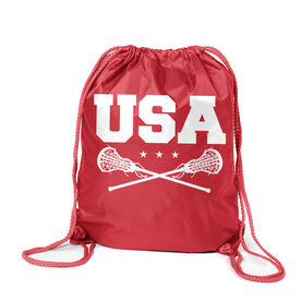 Girls Lacrosse Sport Pack Cinch Sack - USA Girls Lacrosse
