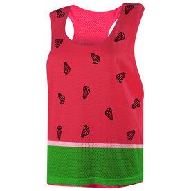 Girls Lacrosse Racerback Pinnie - Watermelon