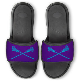 Girls Lacrosse Repwell® Slide Sandals - Crossed Sticks