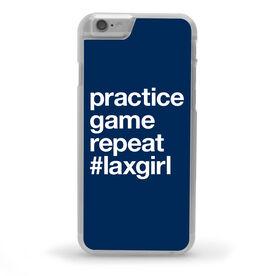 Girls Lacrosse iPhone® Case - Practice Game Repeat