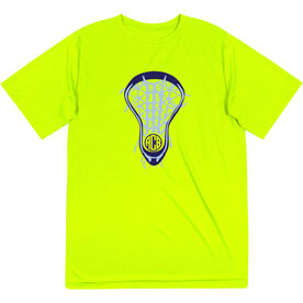 Girls Lacrosse Short Sleeve Performance Tee - Lax is Life with Monogram