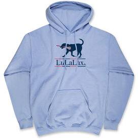 Girls Lacrosse Hooded Sweatshirt - LuLaLax Logo