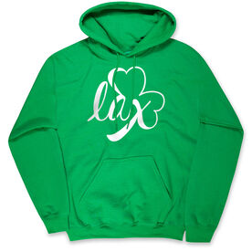 Girls Lacrosse Hooded Sweatshirt - Lax Shamrock