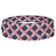 Lacrosse Multifunctional Headwear - Lacrosse Stick USA Flag RokBAND