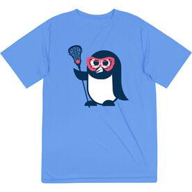 Girls Lacrosse Short Sleeve Performance Tee - Penguin