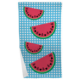 Girls Lacrosse Beach Towel Lax Watermelons