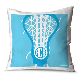 Girls Lacrosse Throw Pillow Monogrammed Lax is Life