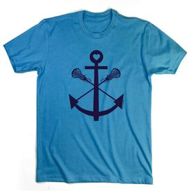 Lacrosse T-Shirt Short Sleeve Lacrosse Sticks Anchor