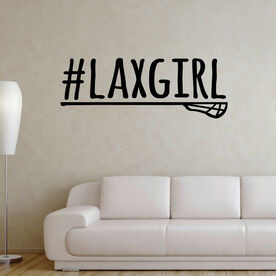 Lacrosse Removable ChalkTalkGraphix Wall Decal #LAXGIRL