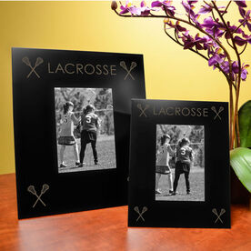 Girls Lacrosse Engraved Picture Frame - Four Corners