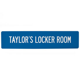"""Personalized Aluminum Room Sign - Personalized Locker Room (4""""x18"""")"""