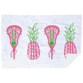 Girls Lacrosse Premium Blanket - Lax Pineapple