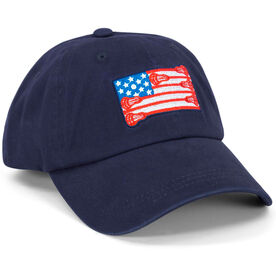 Lacrosse Flag Hat - Navy Blue
