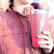 Girls Lacrosse 20 oz. Double Insulated Tumbler - Player Silhouette
