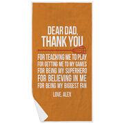 Lacrosse Premium Beach Towel - Dear Dad