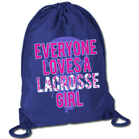 Lacrosse Sport Pack Cinch Sack Everyone Loves A Lacrosse Girl