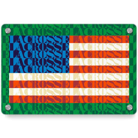 Lacrosse Metal Wall Art Panel - American Flag Mosaic