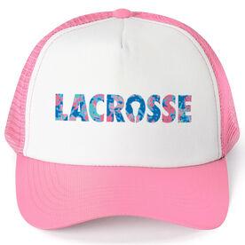 Girls Lacrosse Trucker Hat - Floral