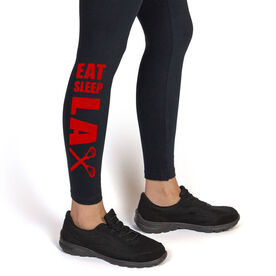 Lacrosse Leggings Eat Sleep Lax