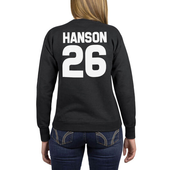 Girls Lacrosse Crew Neck Sweatshirt - Favorite Fall Things