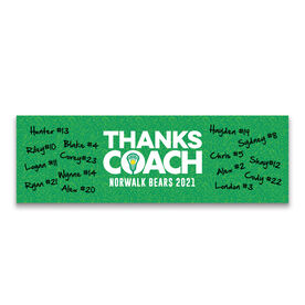 "Girls Lacrosse 12.5"" X 4"" Removable Wall Tile - Thanks Coach (Autograph)"