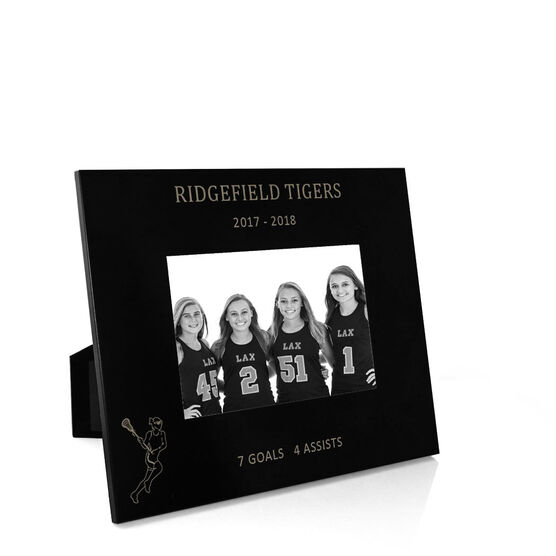 Girls Lacrosse Engraved Picture Frame - Girl Player Stats