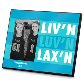 Lacrosse Personalized Photo Frame Liv'n Luv'n Lax'n