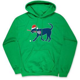 Girls Lacrosse Standard Sweatshirt Christmas Dog