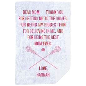 Girls Lacrosse Premium Blanket - Dear Mom Heart